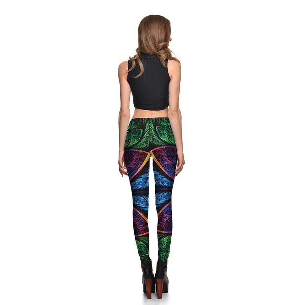 Flashy Floral Leggings - Lotus Leggings