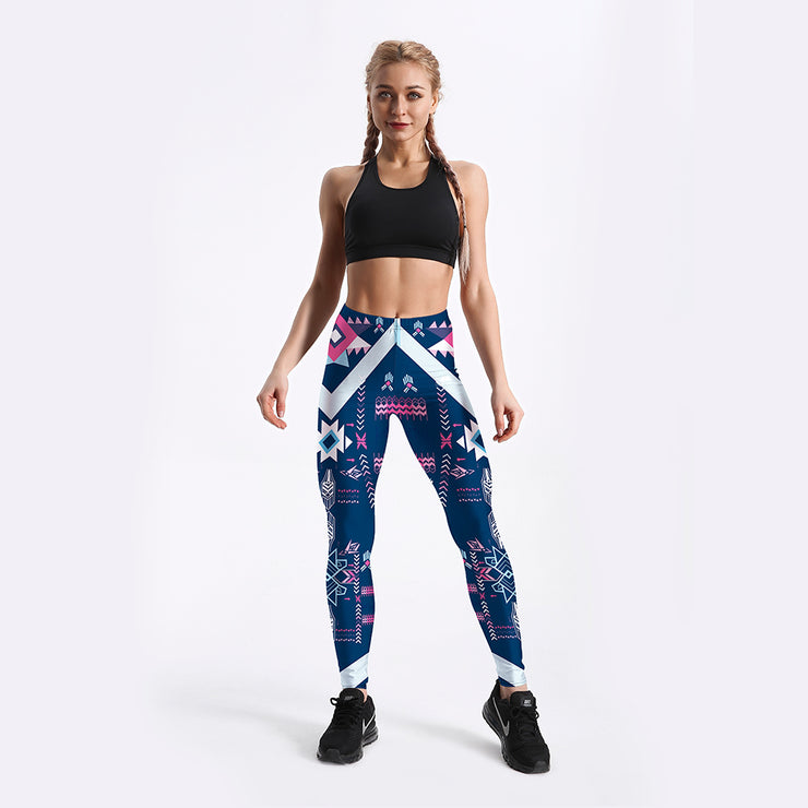 Purple Tribal Leggings