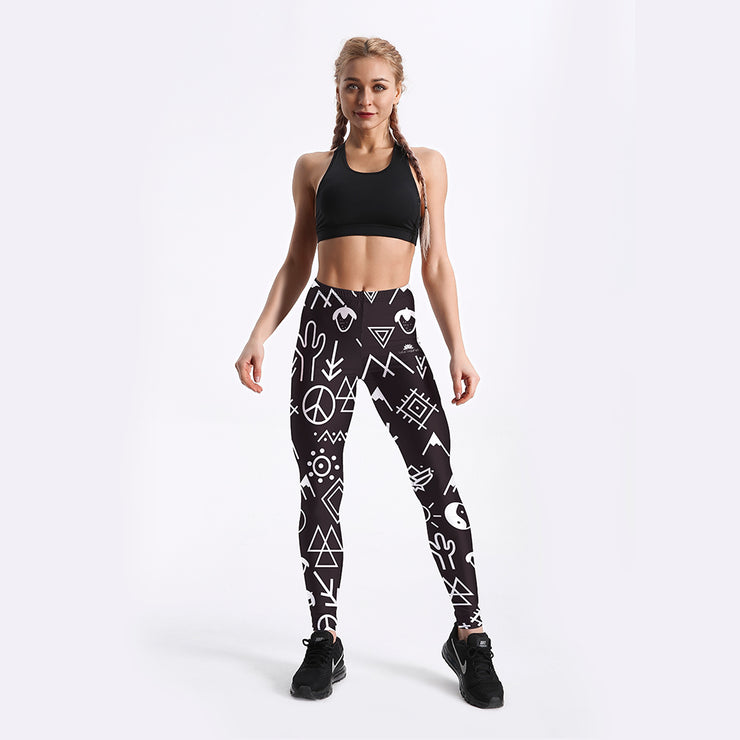 Retro Symbol Leggings