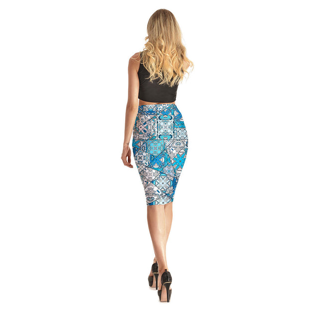 Quilt Squares Long Skirt - Lotus Leggings