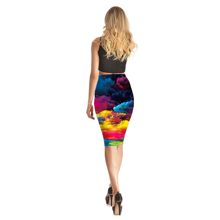 Rainbow Skies Long Skirt - Lotus Leggings