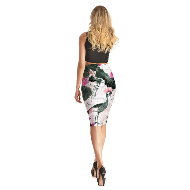 Birds and Flowers Long Skirt - Lotus Leggings
