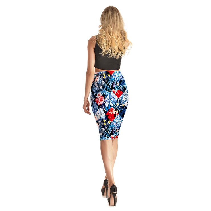 Paradise Squares Pencil Skirt - Lotus Leggings