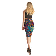 Colorful Swirls Pencil Skirt - Lotus Leggings