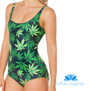MARIJUANA ONE PIECE SWIMSUIT - Lotus Leggings