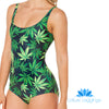 MARIJUANA ONE PIECE SWIMSUIT