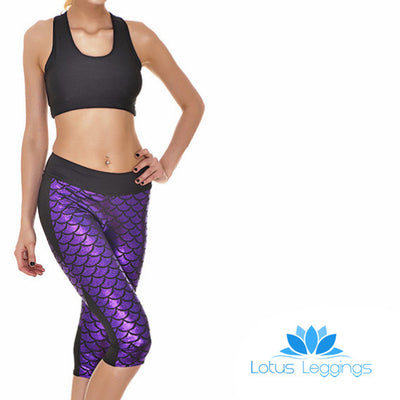 MERMAID ATHLETIC CAPRI - Lotus Leggings