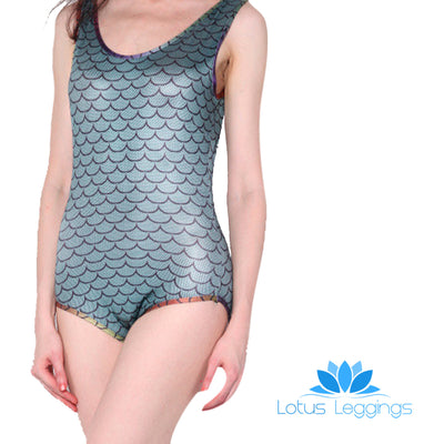 MERMAID SCALES ONE PIECE SWIMSUIT - Lotus Leggings