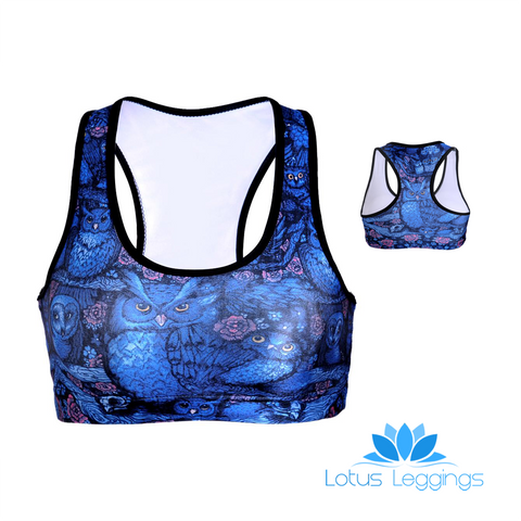 MIDNIGHT OWL SPORTS BRA - Lotus Leggings