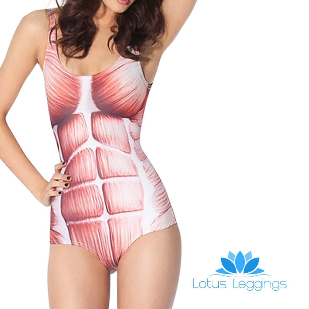 MUSCLE ONE PIECE SWIMSUIT - Lotus Leggings