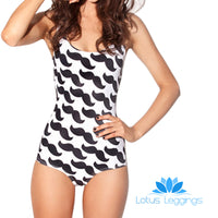 MUSTACHE ONE PIECE SWIMSUIT
