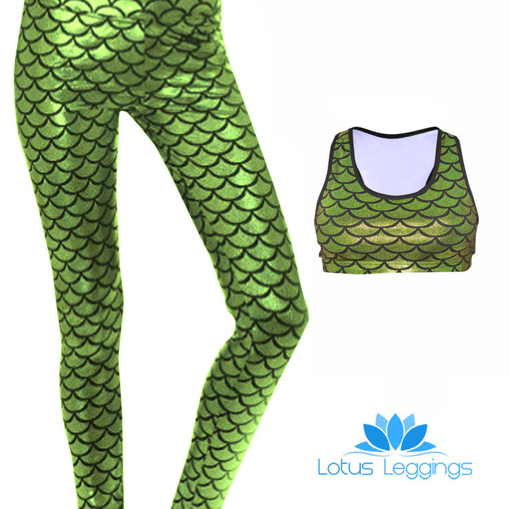 MERMAID FULL ATHLETIC SET - Lotus Leggings