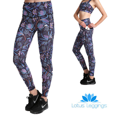 Midnight Garden PerformX Athletic Set - Lotus Leggings