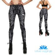 Monochrome Skull Leggings