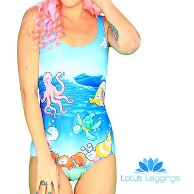 OCEAN ADVENTURE ONE PIECE SWIMSUIT - Lotus Leggings