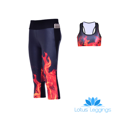 ON FIRE ATHLETIC SET - Lotus Leggings
