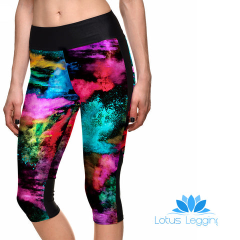 PAINTED CANVAS ATHLETIC  CAPRI