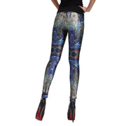 PEACOCK FEATHER LEGGINGS - Lotus Leggings