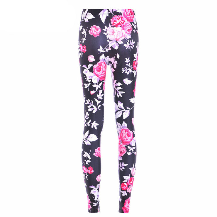 9d801f5908282 PINK ROSES LEGGINGS - Lotus Leggings