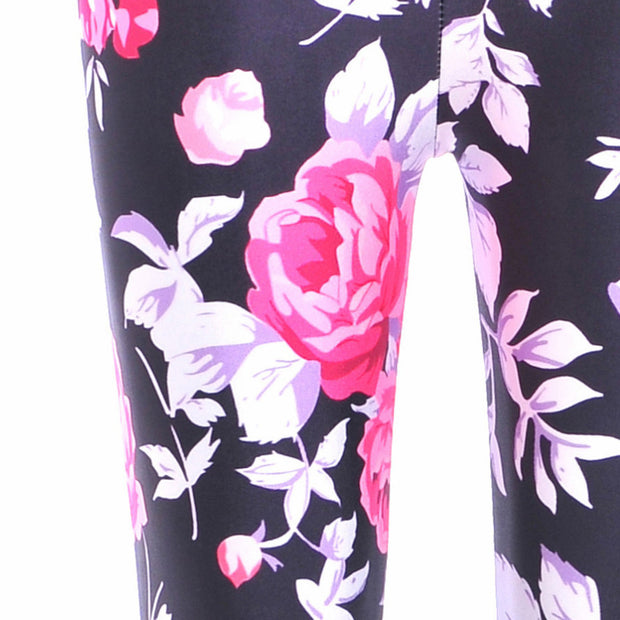 PINK ROSES LEGGINGS - Lotus Leggings