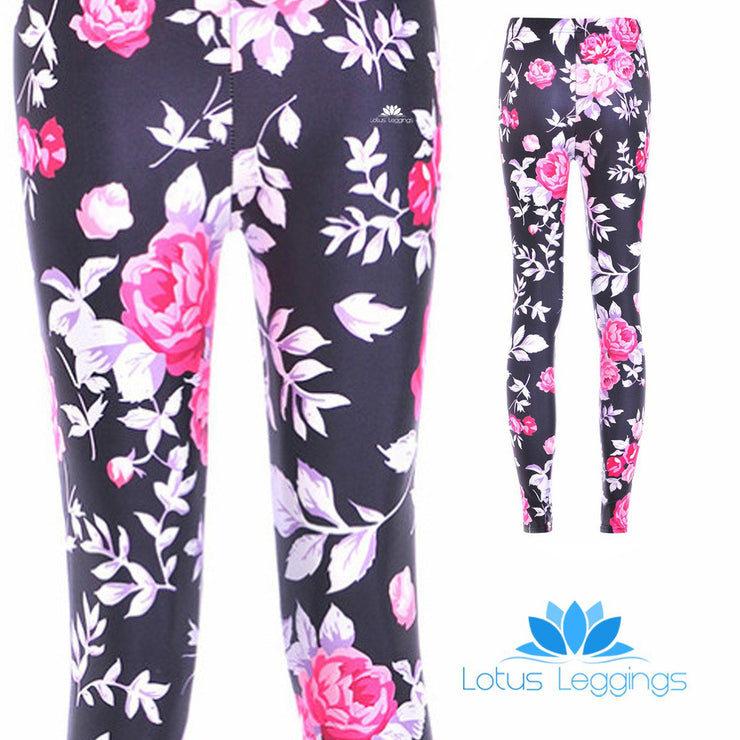 b506133d53ce0 PINK ROSES LEGGINGS – Lotus Leggings