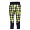 PLAID ATHLETIC CAPRI