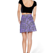 PLAID SKATER SKIRT - Lotus Leggings
