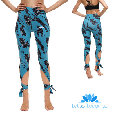 Panther Tie-Up Leggings - Lotus Leggings