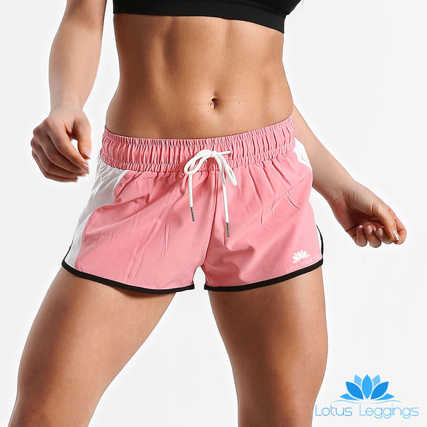 Pink and White Running Shorts