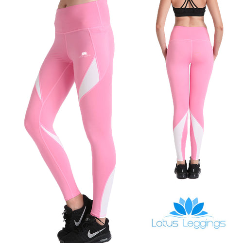 Pretty in Pink MaxCross Leggings - Lotus Leggings