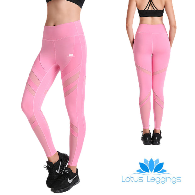 Pretty in Pink SwipeX Leggings - Lotus Leggings