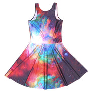 RAINBOW GALAXY SKATER DRESS - Lotus Leggings
