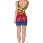RAINBOW SNAKESKIN SLEEVELESS DRESS - Lotus Leggings