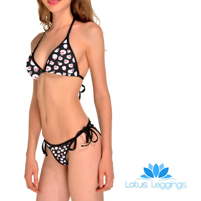 RED EYE SKULL BIKINI - Lotus Leggings