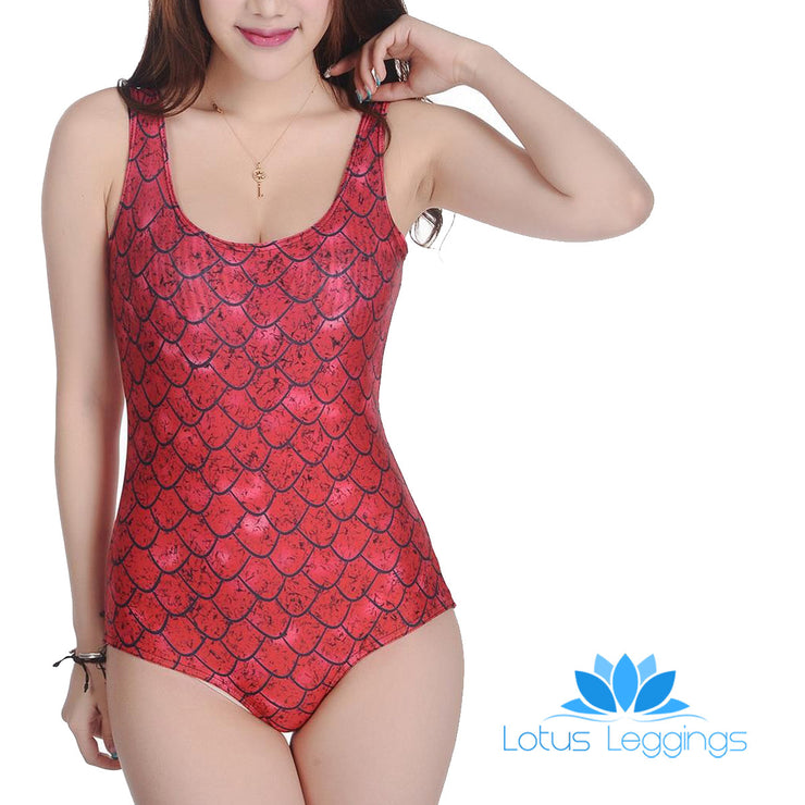 REGAL DRAGON ONE PIECE SWIMSUIT - Lotus Leggings