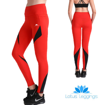 Rosy Red MaxCross Leggings - Lotus Leggings