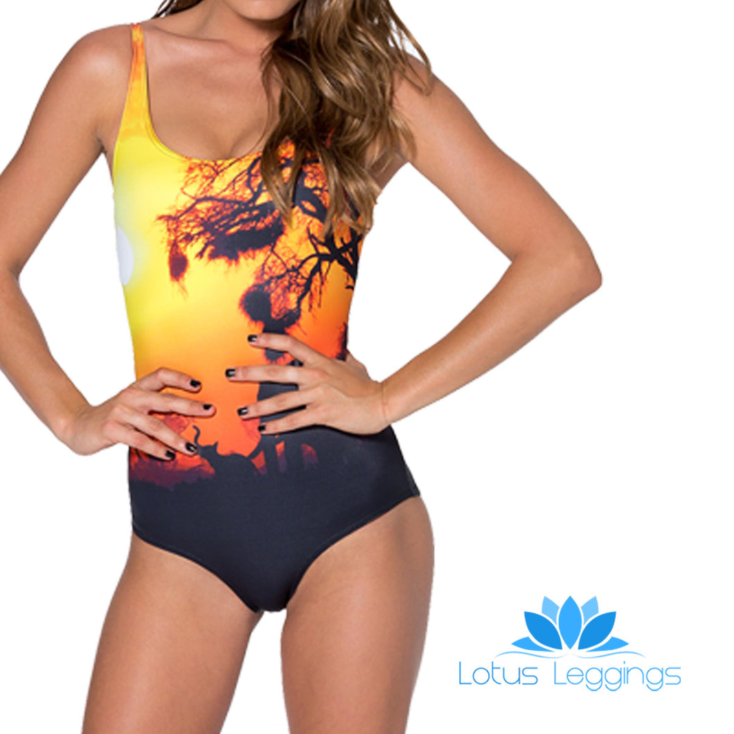 SAFARI ONE PIECE SWIMSUIT - Lotus Leggings