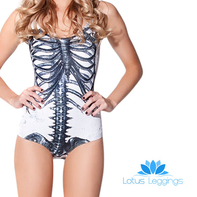 SKELETON ONE PIECE SWIMSUIT - Lotus Leggings