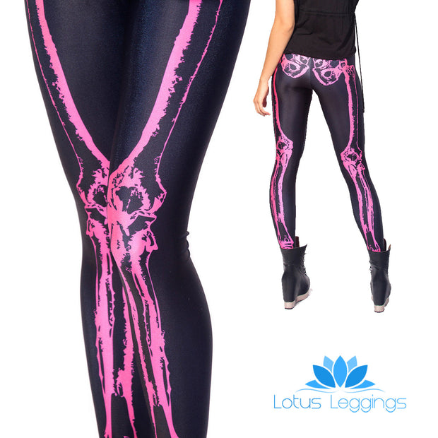 SKELETON LEGGINGS - Lotus Leggings