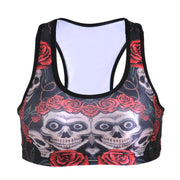 SKULLS AND ROSES ATHLETIC SET - Lotus Leggings