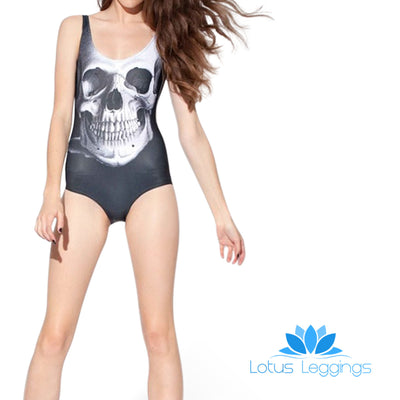 SKULL ONE PIECE SWIMSUIT - Lotus Leggings