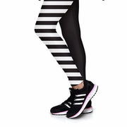SKULL STRIPE ATHLETIC LEGGINGS - Lotus Leggings