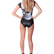 SKULL WITH SLEEVES ONE PIECE SWIMSUIT - Lotus Leggings