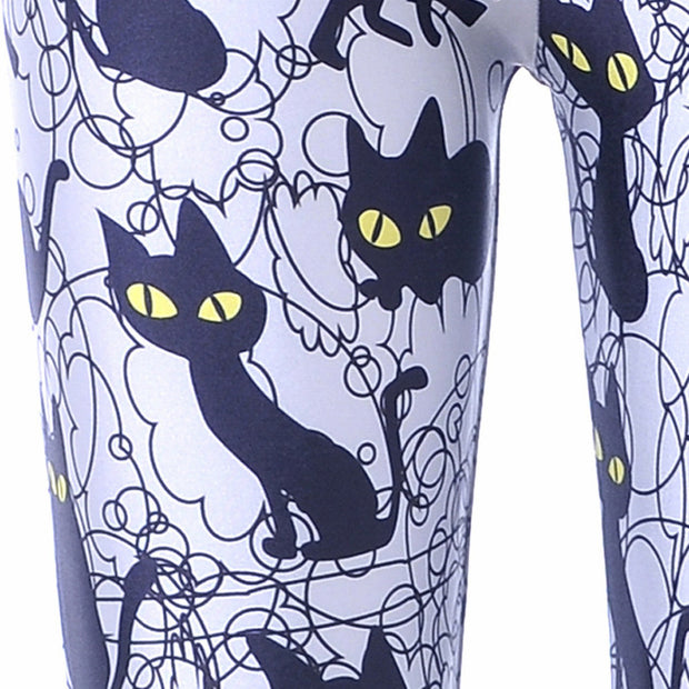 SNEAKY KITTY LEGGINGS - Lotus Leggings