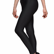 SOLID BLACK ATHLETIC LEGGINGS - Lotus Leggings