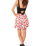 STRAWBERRIES AND CREAM SKATER SKIRT - Lotus Leggings