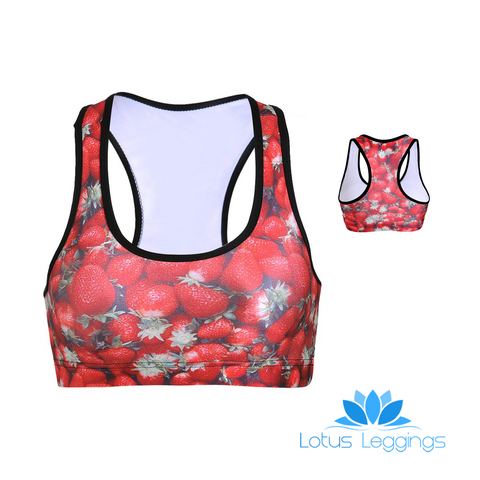 STRAWBERRY SPORTS BRA