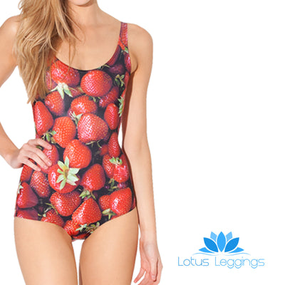 STRAWBERRY ONE PIECE SWIMSUIT - Lotus Leggings