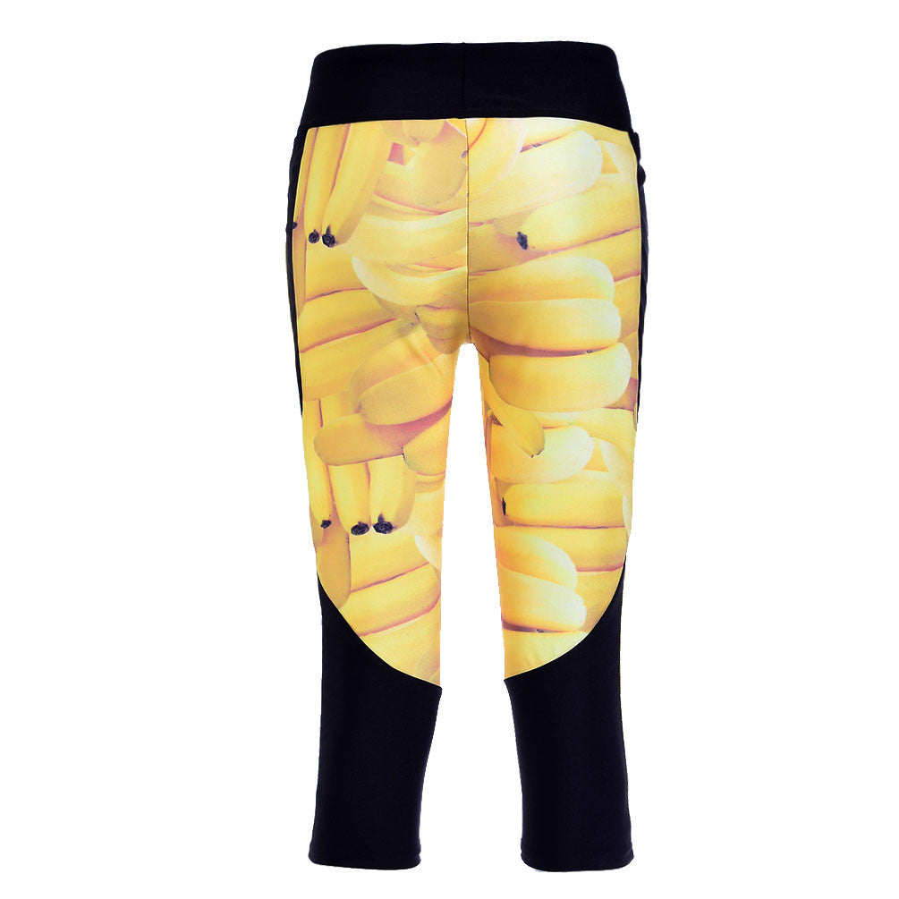 SWEET BANANAS ATHLETIC CAPRI - Lotus Leggings