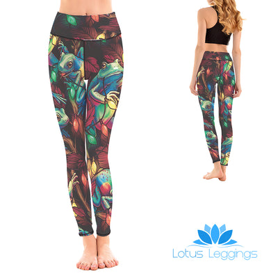 LOTUSX™ Santa Frogs Leggings